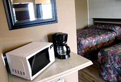Coffee Maker, Microwave - Motel Campbell River